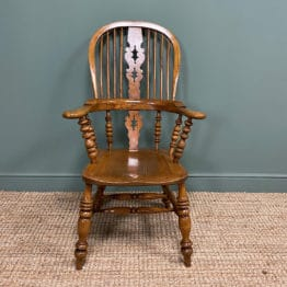 Quality Elm & Ash Broad Arm Antique Windsor Chair