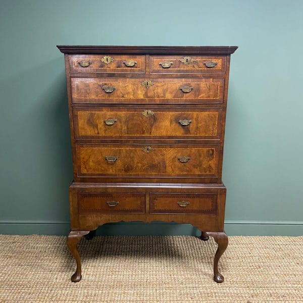Georgian Antique Walnut Chest on Stand