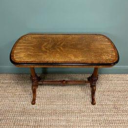 Beautiful Walnut & Amboyna Antique Victorian Side Table