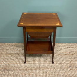 Edwardian Mahogany Antique Work Table