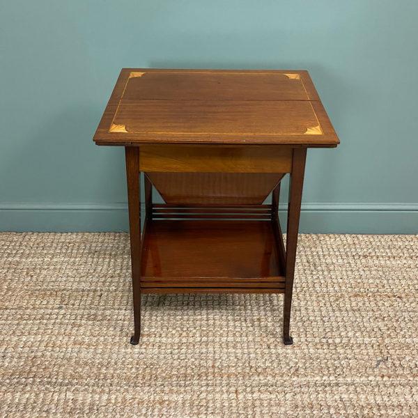 Edwardian Mahogany Antique Work Table
