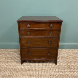 Small Edwardian Mahogany Antique Chest Of Drawers