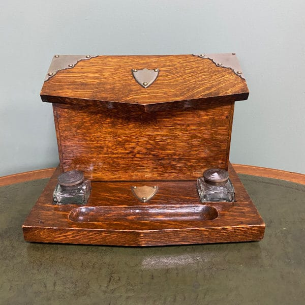 Quality Victorian Oak Antique Stationary Box
