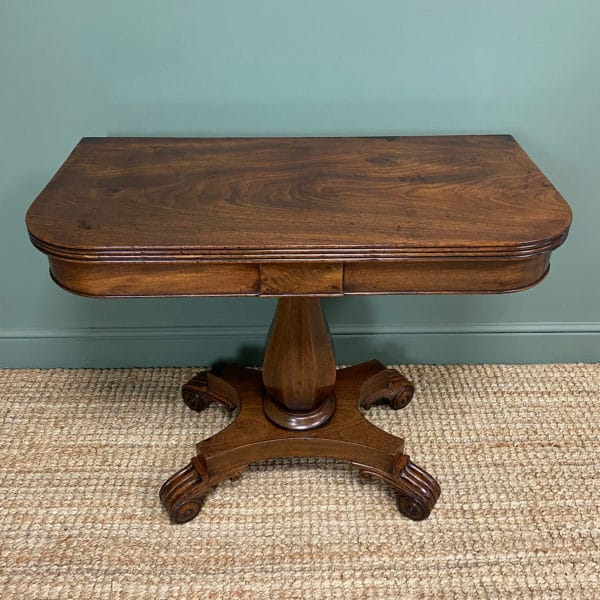 Regency Mahogany Antique Tea Table