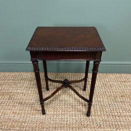 Edwardian Mahogany Occasional Antique Lamp Table