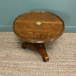 Stunning Victorian Oak Antique Coffee Table