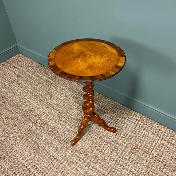 Victorian Satinwood Antique Occasional Lamp Table
