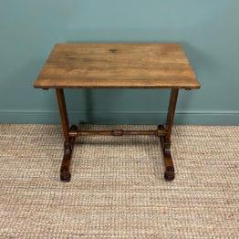 Striking Figured Rosewood Regency Antique Side Lamp Table