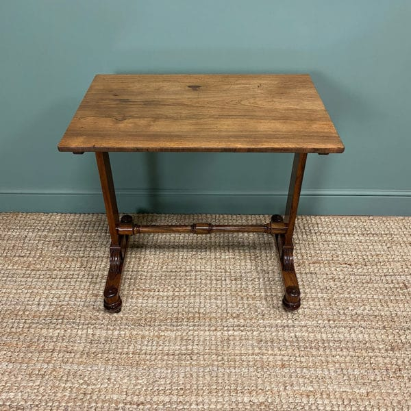 Striking Figured Rosewood Regency Antique Side Lamp Table