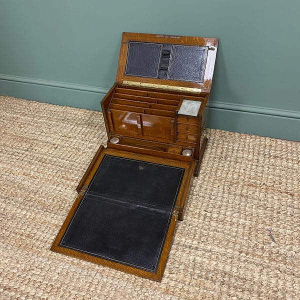 Quality Victorian Oak Antique Stationery Cabinet