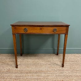 Elegant Georgian Mahogany Antique Side Table