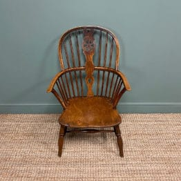 Georgian Wheel Back Antique Windsor Chair