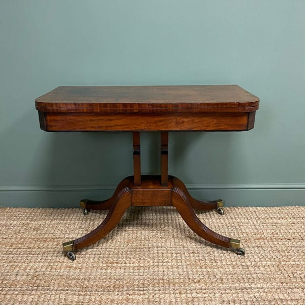 Regency Mahogany Antique Games Table / Side Table