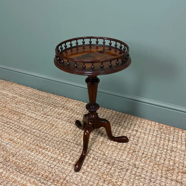 Stunning Edwardian Mahogany Antique Wine Table