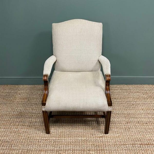 Fine Mahogany Gainsborough Antique Armchair