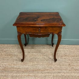 Spectacular Quality Victorian Rosewood Antique Work Table
