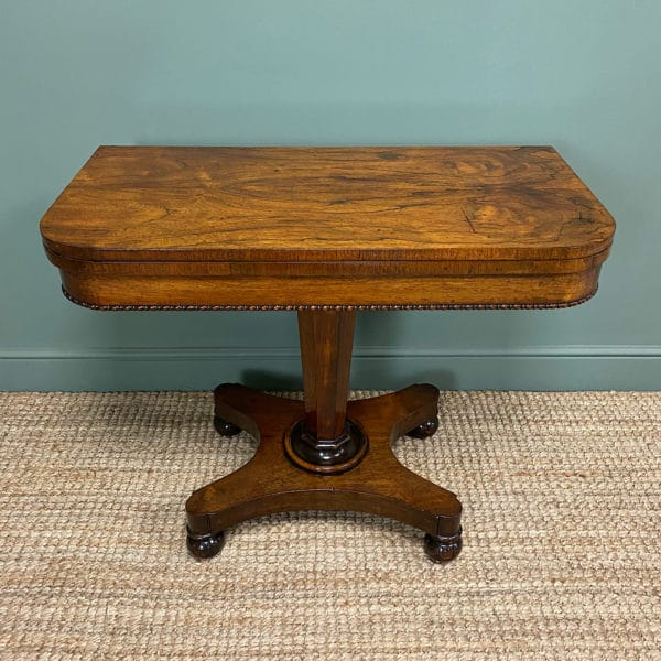 Stunning Victorian Rosewood Antique Card Table