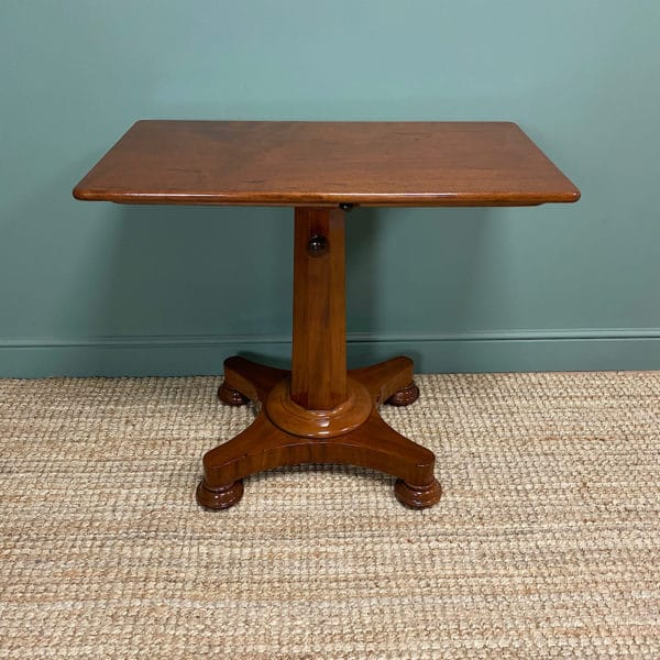 Spectacular William IV Adjustable Antique Reading Table / Library Table
