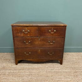 George III Country House Oak Antique Chest of Drawers