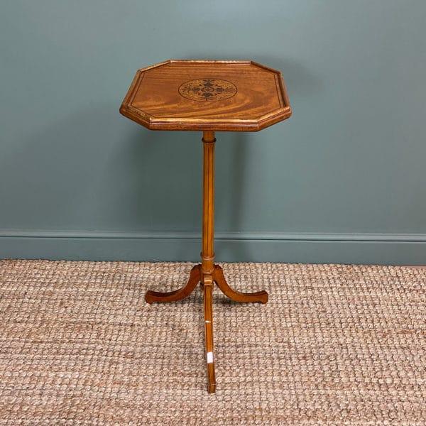 Unusual Satinwood Victorian Jardinière / Side Table