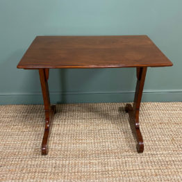 Quality Victorian Mahogany Antique Stretcher Table / Sofa Table