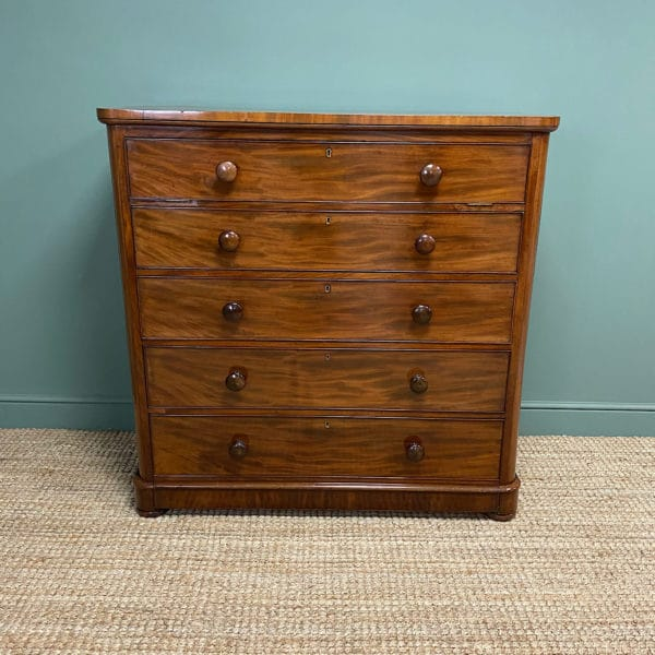 Tall Victorian Mahogany Antique Chest of Drawers