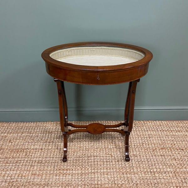 Elegant Victorian Mahogany Antique Bijouterie Table