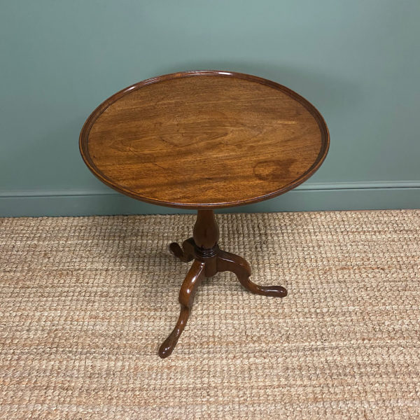 Georgian Mahogany Antique Tripod Table