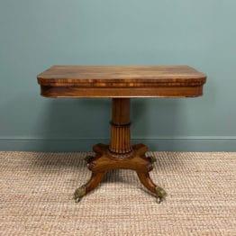 Sensational Goncalo Alves Regency Antique Side Table / Tea Table