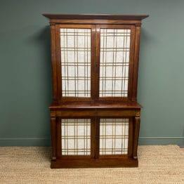 William IV Mahogany Antique Bookcase Cupboard - Charles C Gray 1848