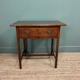 George III Country House Oak Antique Side Table