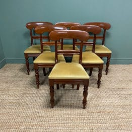Quality Victorian Mahogany Set of Six Antique Dining Chairs