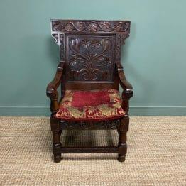 Quality Antique Oak Wainscot Chair