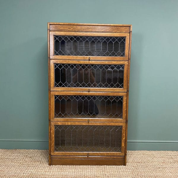 Oak Barristers Stacking Antique Bookcase