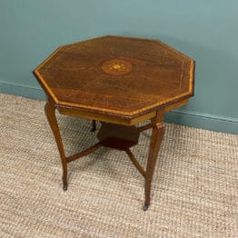 Spectacular Quality Inlaid Mahogany Antique Centre Table / Lamp Table