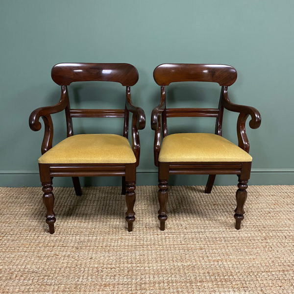 Quality Pair of Victorian Carver Arm Chairs