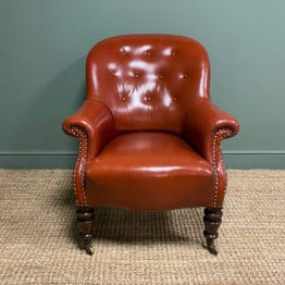 Stunning Victorian Gillows of Lancaster Antique Armchair