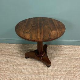 Spectacular Victorian Rosewood Antique Circular Centre Table