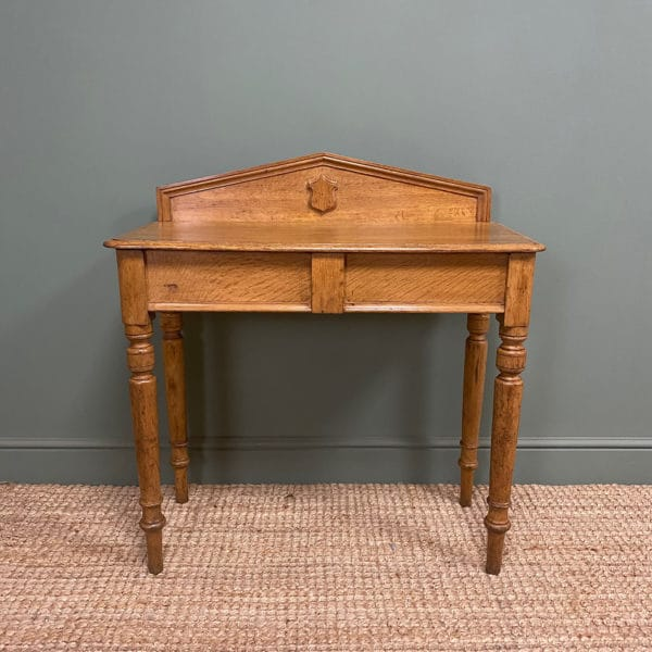 Quality Victorian Golden Oak Antique Hall Table