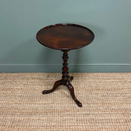 High Quality Georgian Mahogany Antique Occasional Lamp Table