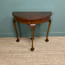 Stunning Edwardian Walnut Antique Games Table / Side Table