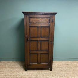 Quality Oak Antique Hall Wardrobe by Wylie & Lochhead