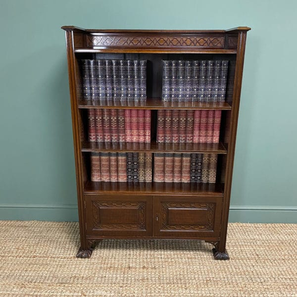 Quality Edwardian Mahogany Antique bookcase by Waring & Gillow