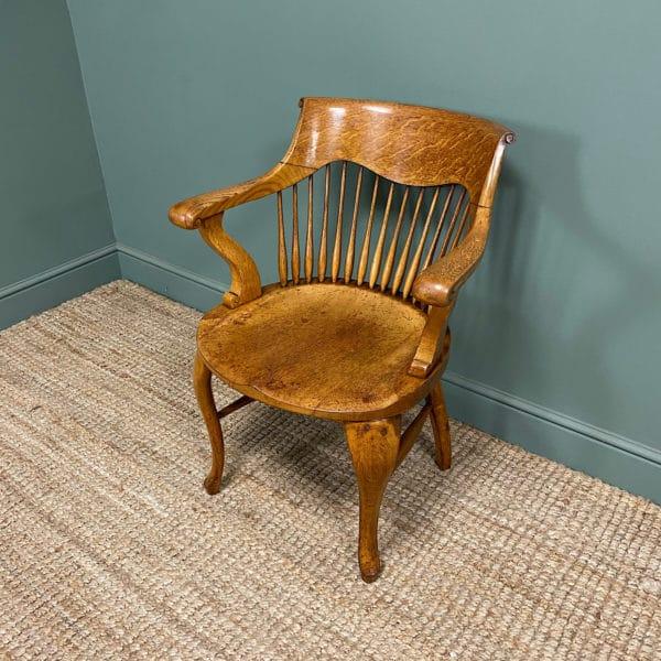 Victorian Oak Arts & Crafts Antique Desk Chair