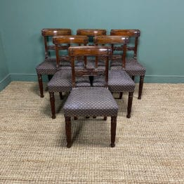 Superb Quality William IV Set of Six Mahogany Antique Dining Chairs
