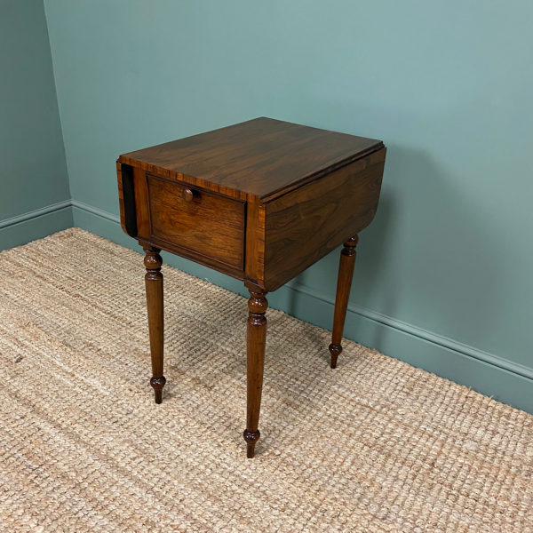 Rare Regency Rosewood Small Antique Pembroke Table