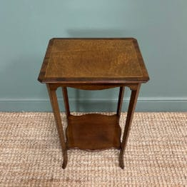 Superb Quality Mahogany Wine Table / Lamp Table by John Taylor