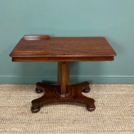 Quality Victorian Mahogany Double Sided Reading / Music Table.