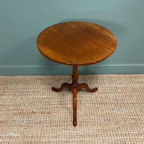 George III Mahogany Antique Occasional Table / Lamp Table