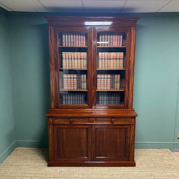 Spectacular Regency Mahogany Antique Library Bookcase by James Winter